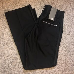 J. Lindeberg Black Waterproof Golf Pants